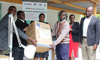 APHIAplus-supported health facilities in Kenya receive essential tools to improve maternal and neonatal services