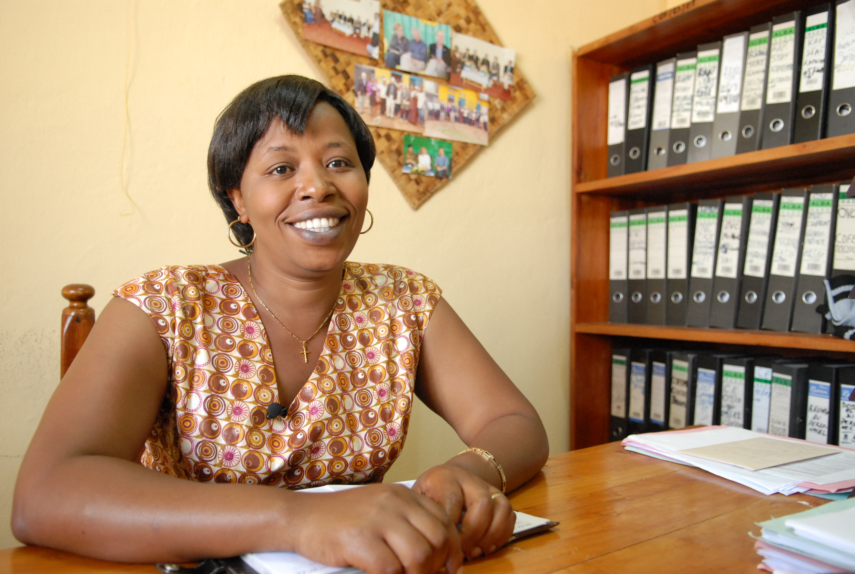 Antoinette Nyirazaninka, chairperson of COFEM, a ROADS project partner.