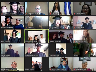 virtual graduation ceremony during pandemic