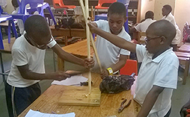 boys building in class