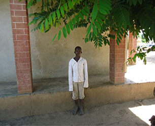 YouthPower Action program participant, Lucas Joaquin, Búzi District of Sofala Province, Mozambique