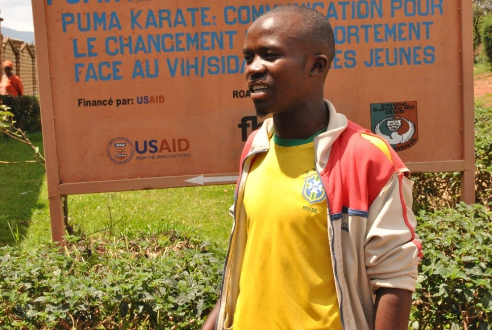 Thierry, a peer educator with Puma Karate.