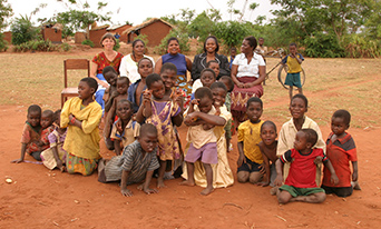 Community portrait in Malawi