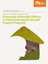Protecting Children in Care and Support Programs - Manual 2