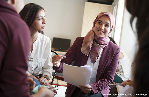 Women in Career Center in Morocco