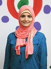 Eman Awamleh stands in her business, Carnaval Play & Learn, a unique after-school program for children in Jordan.
