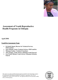Assessment of Youth Reproductive Health Programs in Ethiopia (PDF, 763 KB)
