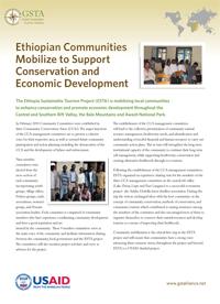 Ethiopian Communities Mobilize to Support Conservation and Economic Development