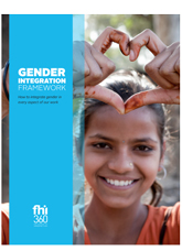Gender Integration Framework: How to Integrate Gender in Every Aspect of Our Work