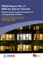 FIELD Report No. 17: Skills for Jobs for Growth