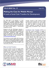 FIELD Brief No. 19: Making the Case for Mobile Money: A Look at Social Cash Transfers for Development