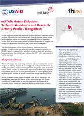 mSTAR: Mobile Solutions Technical Assistance and Research Activity Profile - Bangladesh