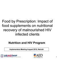 Food by Prescription: Impact of Food Supplements on ...
