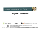 Great Science for Girls Program Quality Tool