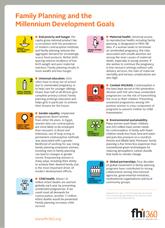 Family Planning and the Millennium Development Goals
