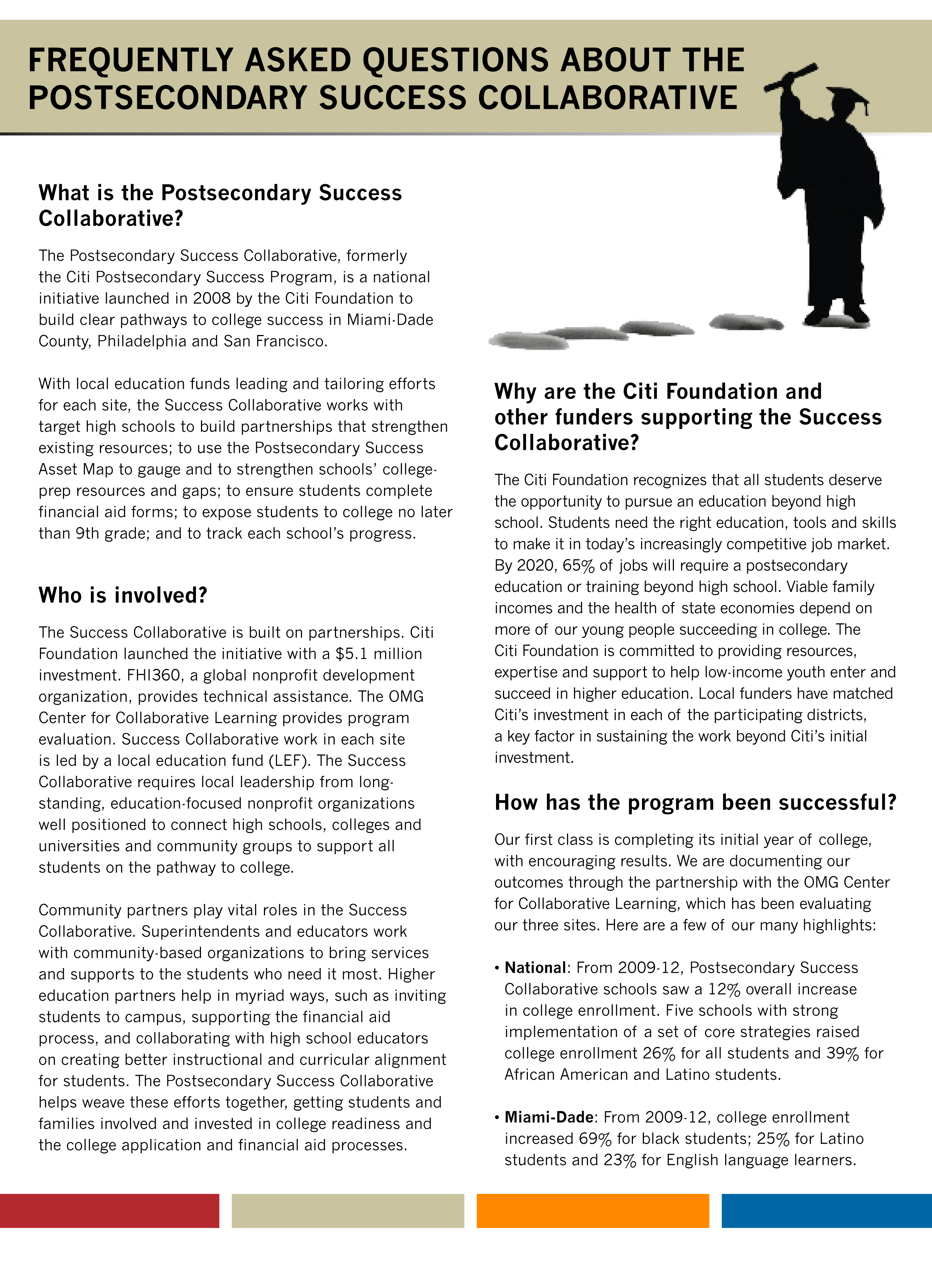 Frequently Asked Questions About the Postsecondary Success Collaborative