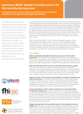 Advocacy Brief: Gender Considerations for Microbicide Introduction