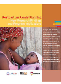 Postpartum Family Planning