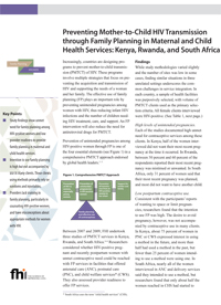 Preventing MTCT through Family Planning in Maternal and Child Health Services: Kenya, Rwanda and South Africa