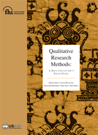 Qualitative Research Methods: A Data Collector's Field Guide
