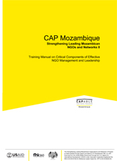 Training Manual on Critical Components of Effective NGO Management and Leadership
