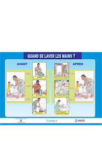 WATSAN Poster - When do you wash your hands (PDF in French)