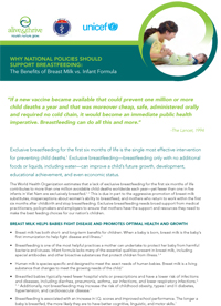Why National Policies Should Support Breastfeeding