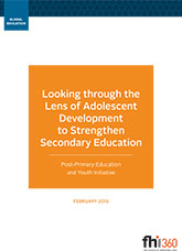 Looking through the Lens of Adolescent Development to Strengthen Secondary Education