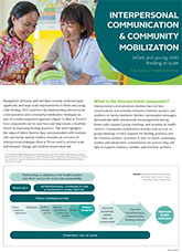 Interpersonal Communication and Community Mobilization: Infant and Young Child Feeding at Scale