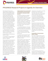 PROGRESS Research Projects in Uganda: An Overview (PDF, 237 KB)