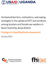 Contextual barriers, motivations, and coping strategies in the uptake of HCT and condoms among truckers and female sex worker...