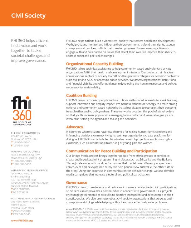 Civil Society (fact sheet)