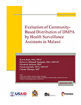 Evaluation of Community-Based Distribution of DMPA in Malawi (PDF, 1.1 MB)