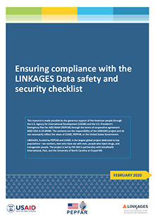 Ensuring Compliance with the LINKAGES Data Safety and Security Checklist