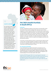 FHI 360's Health Portfolio in South Africa (fact sheet)