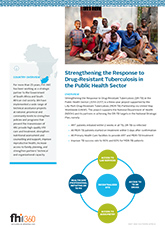 Strengthening the Response to Drug-Resistant Tuberculosis in the Public Health Sector (fact sheet)