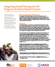 Integrating Family Planning into HIV Programs: Evidence-Based Practices