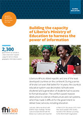 Building the Capacity of Liberia's Ministry of Education to Harness the Power of Information