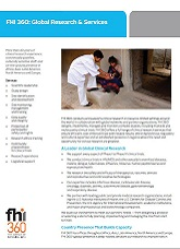 FHI 360: Global Research and Services (fact sheet)