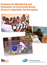 Guidance for Monitoring and Evaluation of Community-Based Access to Injectable Contraception