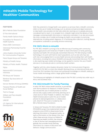 mHealth: Mobile Technology for Healthier Communities (fact sheet)