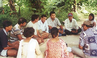people discussing in circle