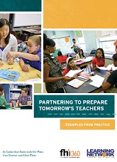 Partnering to Prepare Tomorrow's Teachers
