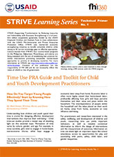 Time Use PRA Guide and Toolkit for Child and Youth Development Practitioners