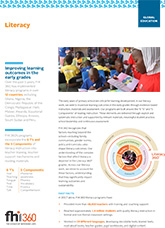 Literacy: Improving learning outcomes in the early grades (fact sheet)