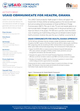 USAID Communicate for Health, Ghana (activity brief)