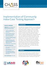 Implementation of Community Index Case Testing (fact sheet)