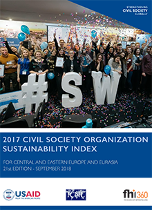 2017 Civil Society Organization Sustainability Index for Central and Eastern Europe and Eurasia