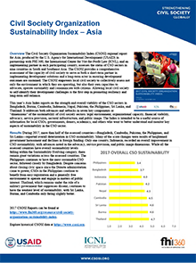 Civil Society Organization Sustainability Index – Asia