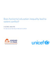 Does horizontal education inequality lead to violent conflict?